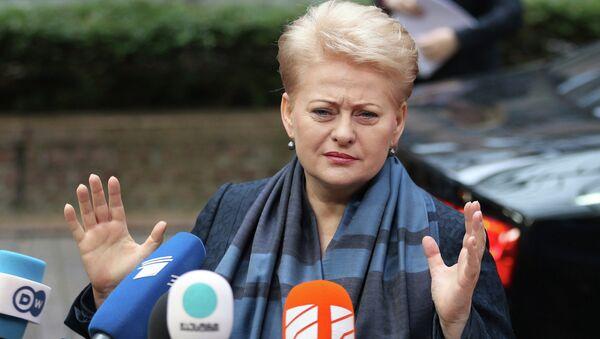 Президент Литвы Даля Грибаускайте на саммите ЕС с Брюсселе 27 июня 2014