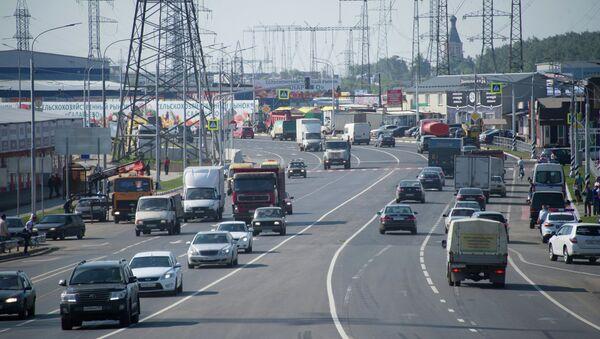 Реконструированная дорога от Киевского до Калужского шоссе. Архивное фото