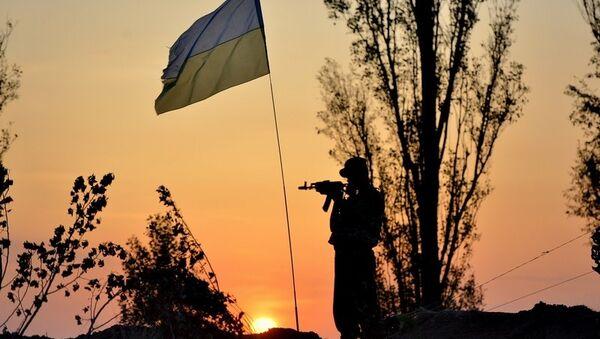 Военнослужащий украинской армии, архивное фото