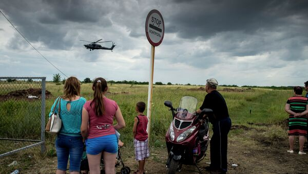 Беженцы в Луганской области. Архивное фото