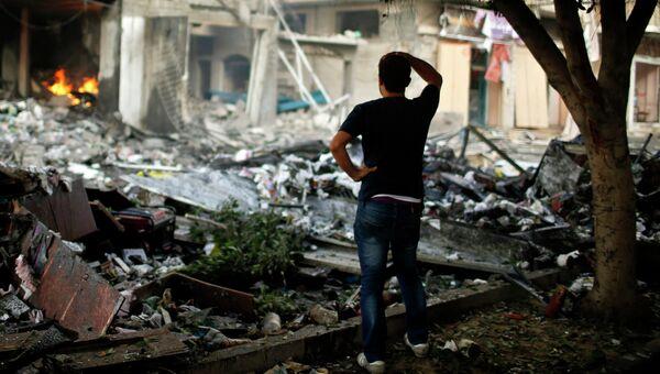 Последствия авиаударов израильской армии в Секторе Газа. Архивное фото