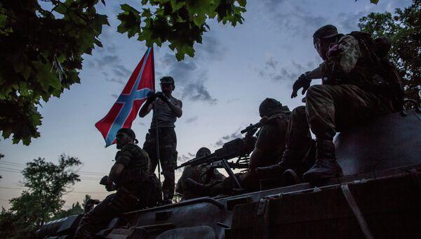 Бойцы ополчения Донбасса, архивное фото