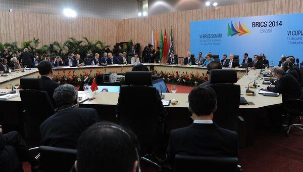 Заседании саммита лидеров стран БРИКС
