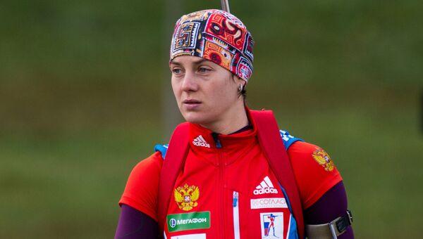 Российская биатлонистка Ирина Старых. Архивное фото