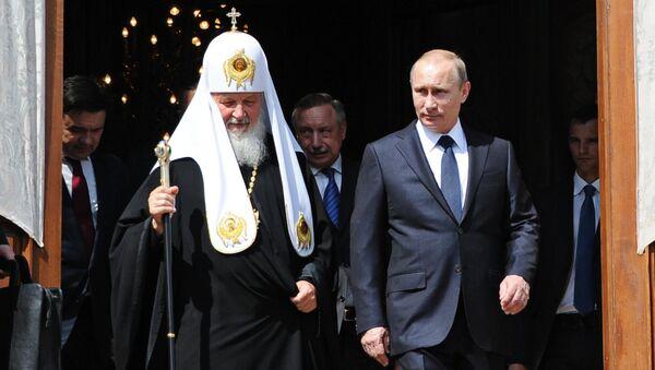 Президент России Владимир Путин и патриарх Московский и всея Руси Кирилл. Архивное фото