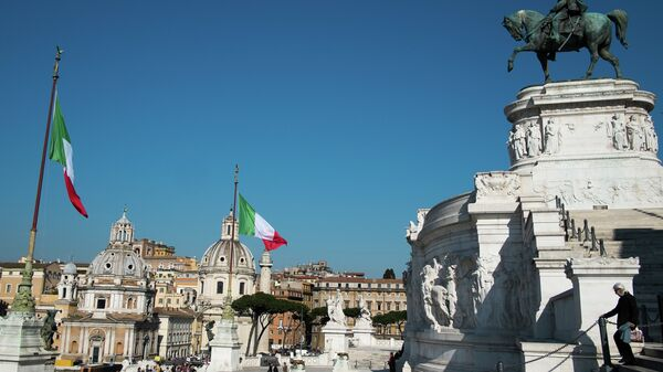 Площадь Венеции (Piazza Venezia) в Риме. Архивное фото