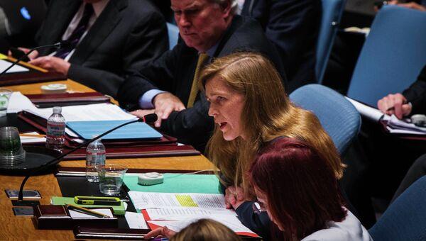 Саманта Пауэр на заседании Совбеза ООН. Архивное фото