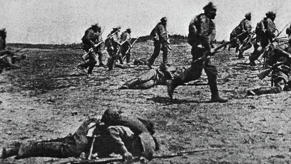 Наступление русских войск на одном из участков Юго-Западного фронта