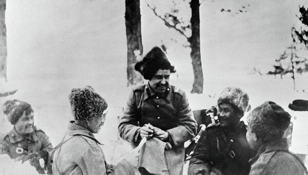 Солдаты русской армии в окопах