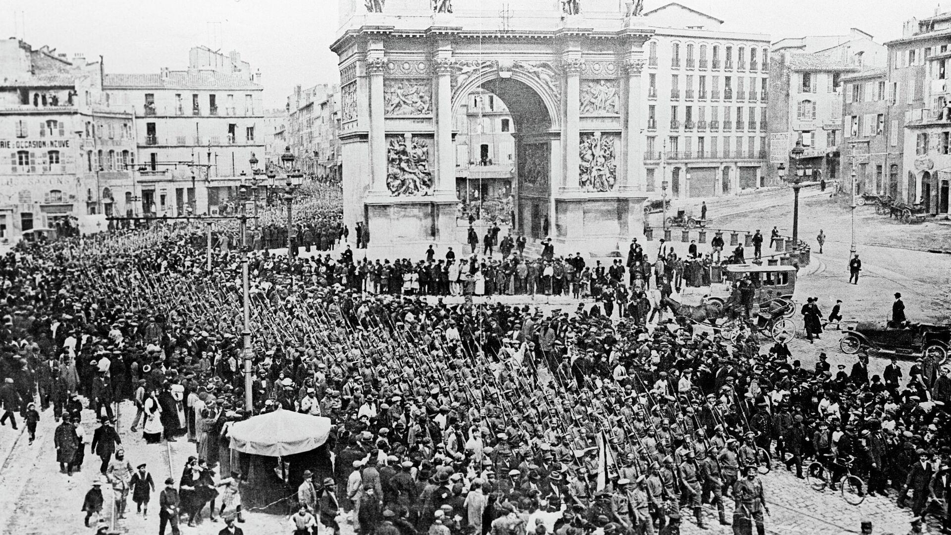 Русские солдаты во Франции в 1916 году - РИА Новости, 1920, 11.11.2020