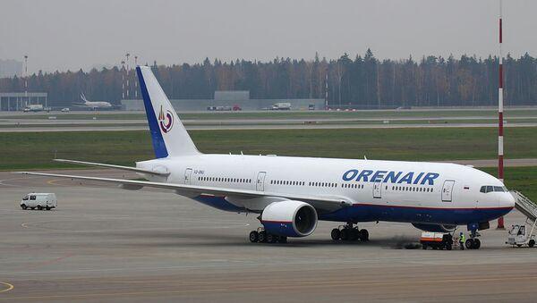 Самолет авиакомпании Оренбургские авиалинии . Архивное фото