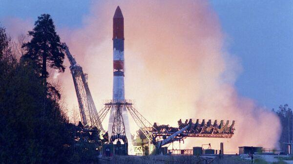 Старт ракеты-носителя. Архивное фото