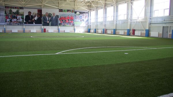 Открытие футбольного зала в Иваново