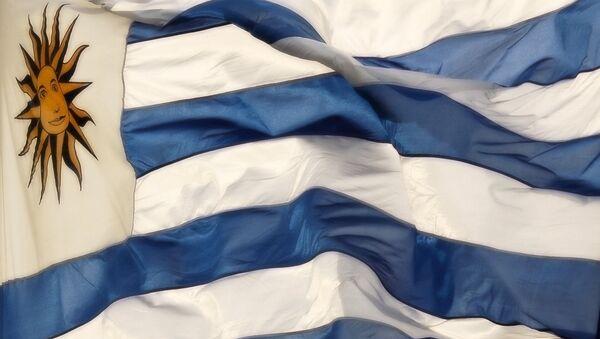 Флаг Республики Уругвай. Архивное фото