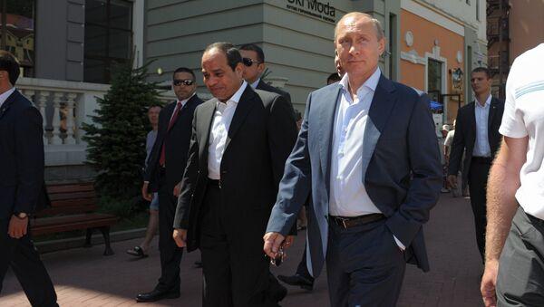 Президент России Владимир Путин и президент Египта Абдель Фаттах ас-Cиси в Сочи