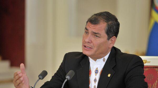Бывший президент Эквадора Рафаэль Корреа. Архивное фото