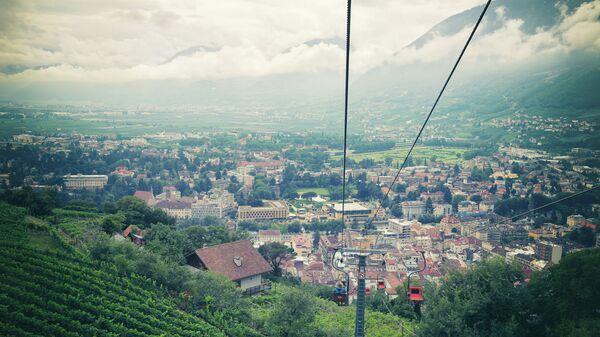 Вид на провинцию Южный Тироль в Италии