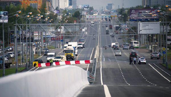 Автодорога в Москве. Архивное фото