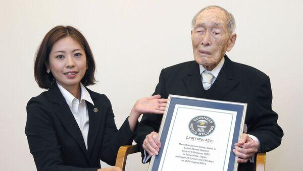 111-летний Сакари Момои официально признан самым пожилым мужчиной на планете