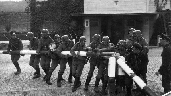 Немецкие солдаты на Германо-Польской границе, сентябрь 1939