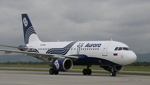 Тигриный самолет, созданный в рамках сотрудничества  Центра Амурский тигр и авиакомпании Аврора