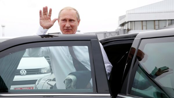 Президент России Владимир Путин прибыл в Минск, архивное фото