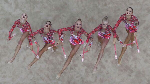 Сборная России по художественной гимнастике на юношеских Олимпийских играх в китайском Нанкине