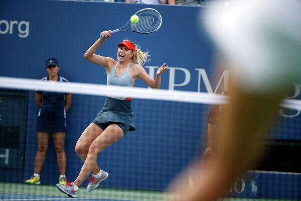 Мария Шарапова во время теннисного турнира US Open
