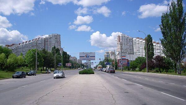 Въезд в город Кишенев