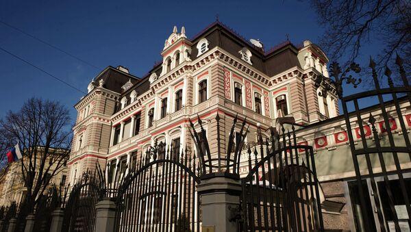 Здание Российского посольства в Латвии. Архивное фото