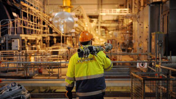 Рабочий на АЭС в Финляндии