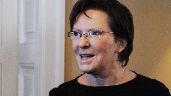 Премьер-министр Польши Эва Копач. Архивное фото