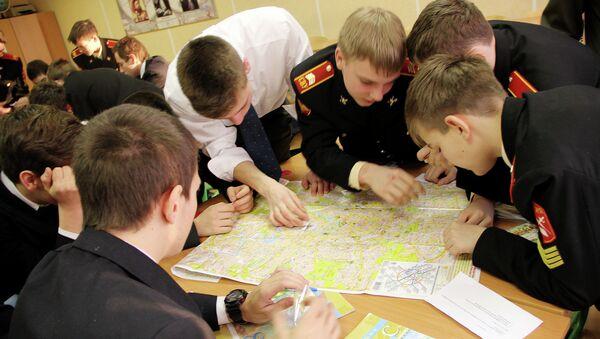 В Московском суворовском военном училище. Архивное фото