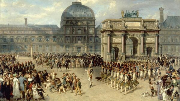 Парад у дворца Тюильри в Париже