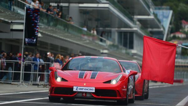 Демонстрационные заезды на церемонии открытия трассы Формулы 1. Архивное фото