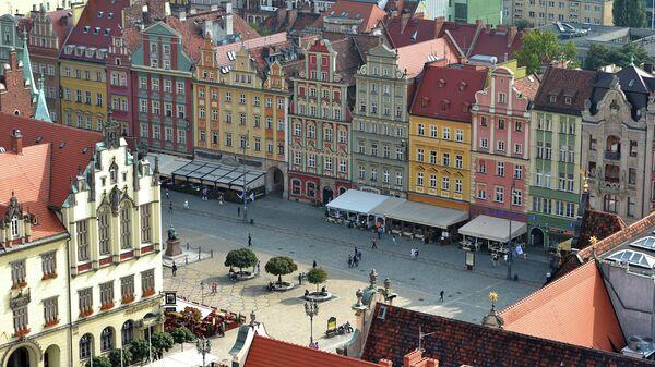 Вид на центральную часть Вроцлава, Польша. Архивное фото