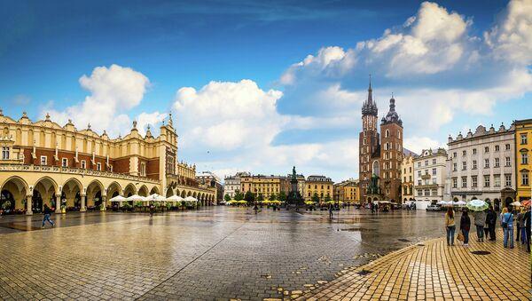 Вид на Краков, Польша. Архивное фото