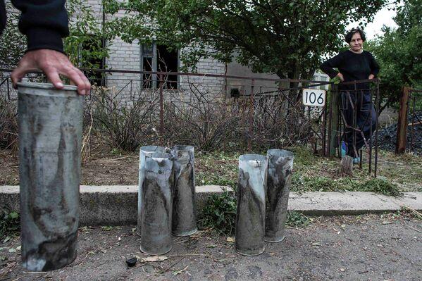 Артиллерийские гильзы, найденные в поселке Нижняя Крынка