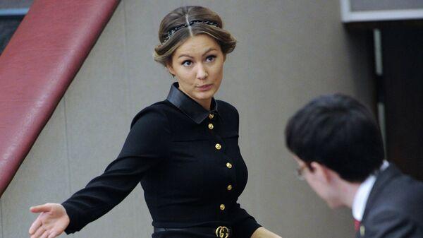 Мария Кожевникова на пленарном заседании нижней палаты российского парламента