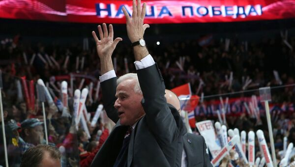 Главный тренер ХК Локомотив Дэйв Кинг. 1 октября 2014
