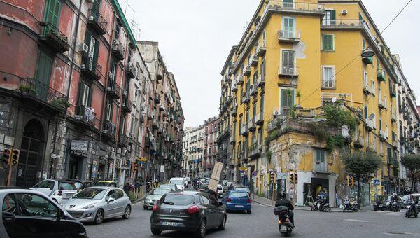 На одной из улиц Неаполя. Архивное фото