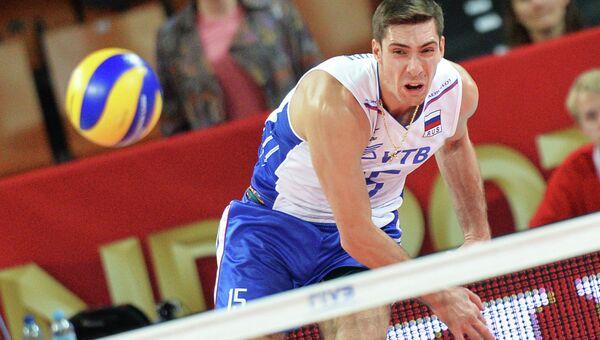 Игрок сборной России по волейболу Дмитрий Ильиных. Архивное фото