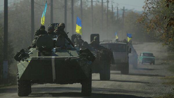 Украинские военные в Дебальцево. Украина, 6 октября 2014