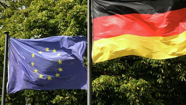 Флаги Евросоюза и Германии в Берлине. Архивное фото