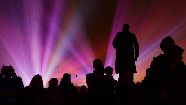 Световая инсталляция на фестивале Круг света