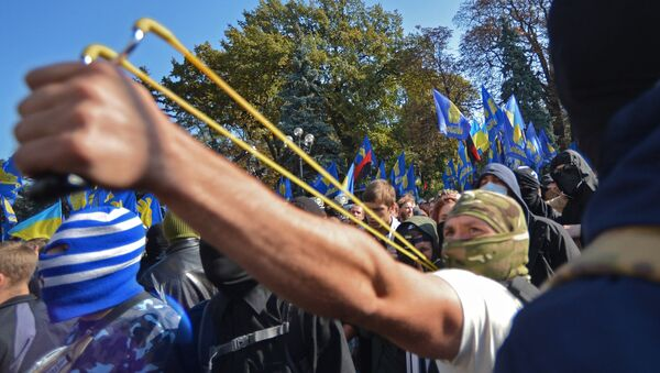 Столкновения у Верховной рады в Киеве. Архивное фото
