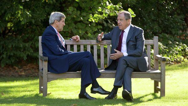 Встреча Сергея Лаврова и Джона Керри в Париже, 14 октября 2014
