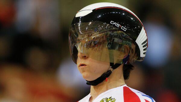 Российская велосипедистка Елена Брежнива. Архивное фото