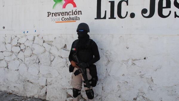 Полицейский спецназ Мексики . Архивное фото