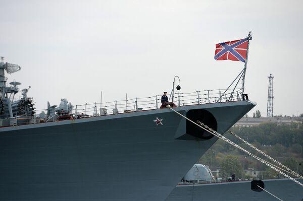 Боевые корабли флота РФ в Севастопольской бухте
